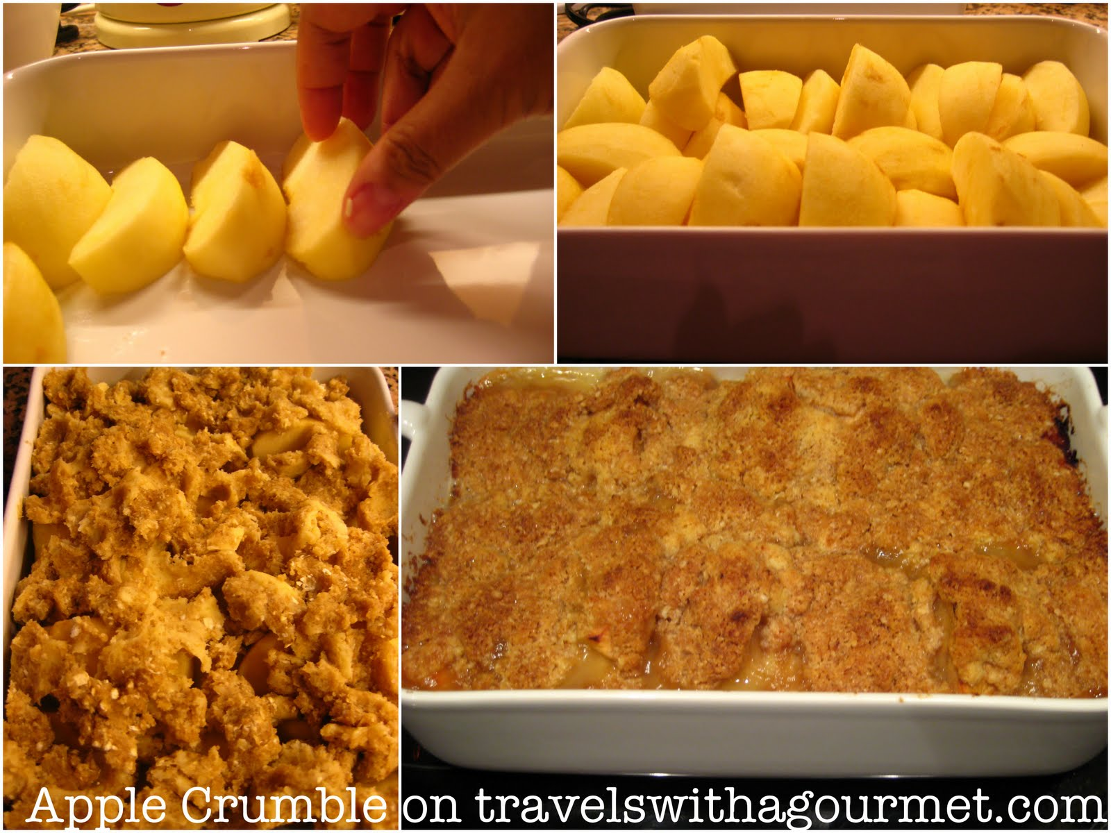 Easy Apple Crumble Travels with a Gourmet